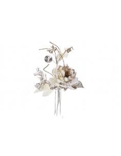 Róża z brokatem